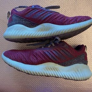 Maroon Adidas AlphaBounce Athletic Shoes